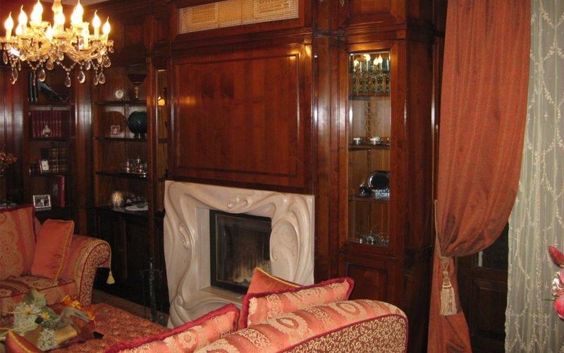 Soggiorno Con Camino Classico : soggiorno con camino classico ...