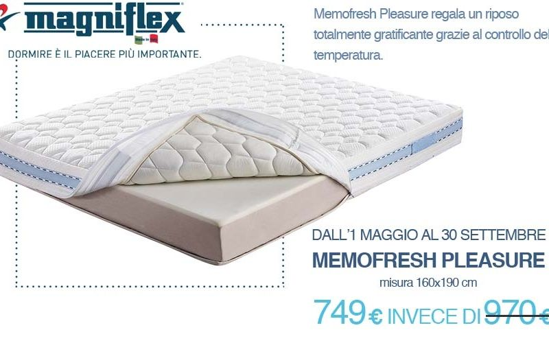 materasso memofresh pleaasure magniflex